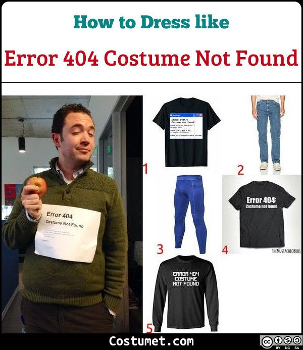 Error 404 Costume Not Found Costume for Cosplay & Halloween