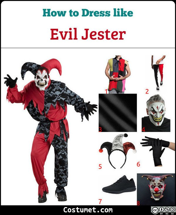 Evil Jester Costume for Cosplay & Halloween