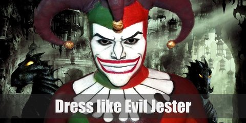 Evil Jester costume consists of a printed or patterned shirt, matching pants, a sash, and a pair of gloves. Wear a scary mask and jester hat, too.