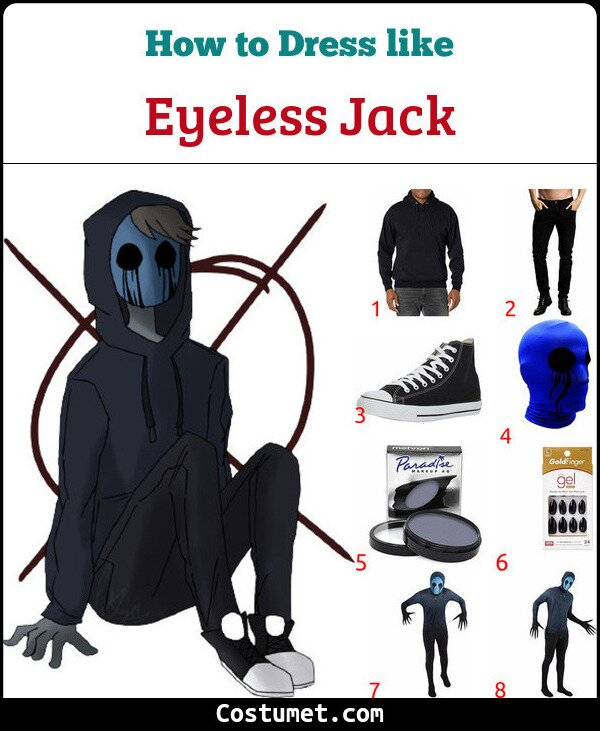 Eyeless Jack Costume for Cosplay & Halloween