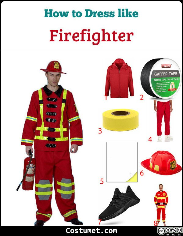 Firefighter Costume for Cosplay & Halloween