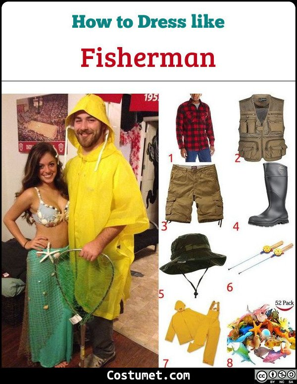Fisherman Costume for Cosplay & Halloween