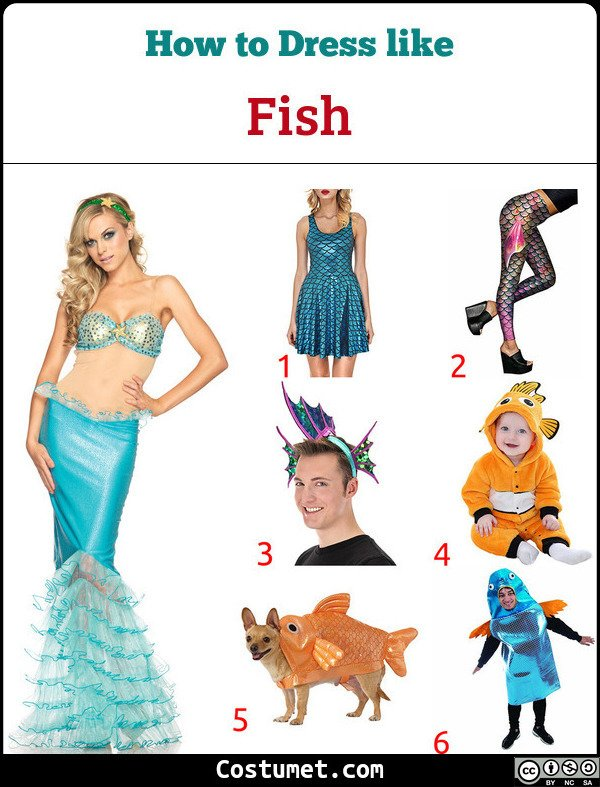 Fish/Mermaid Costume for Cosplay & Halloween