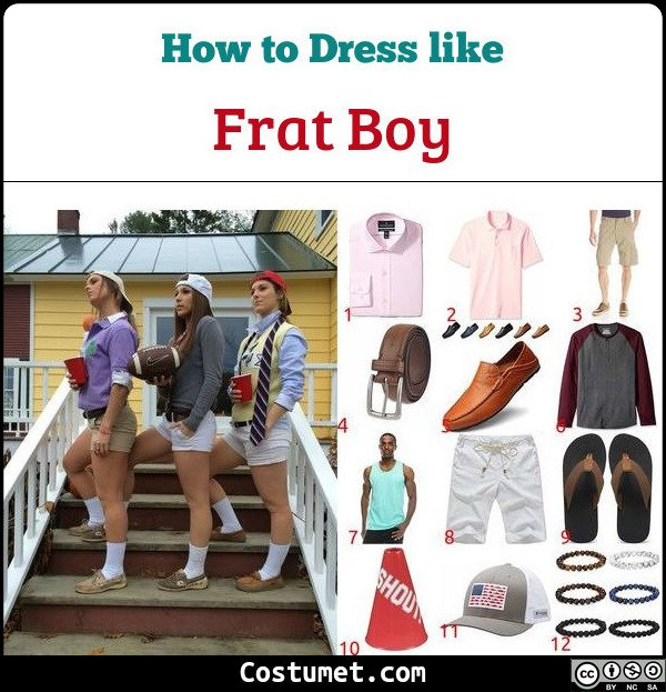 Frat Boy Costume for Cosplay & Halloween