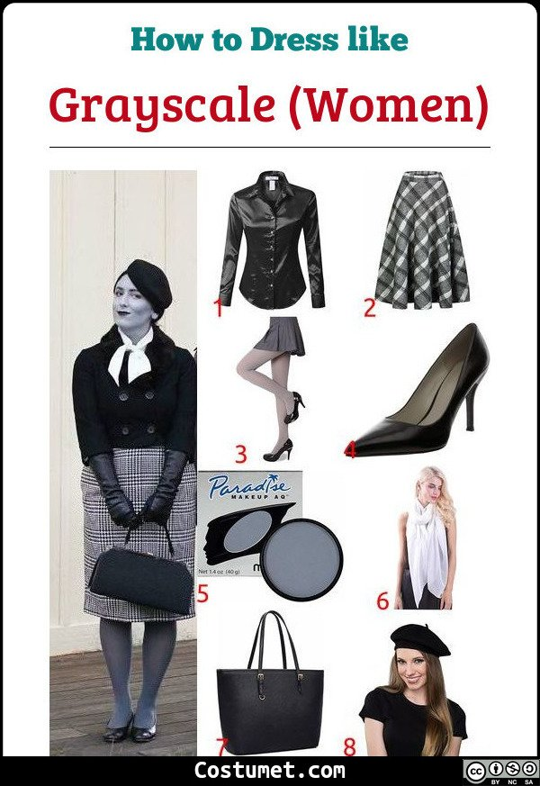 Grayscale Women Costume for Cosplay & Halloween