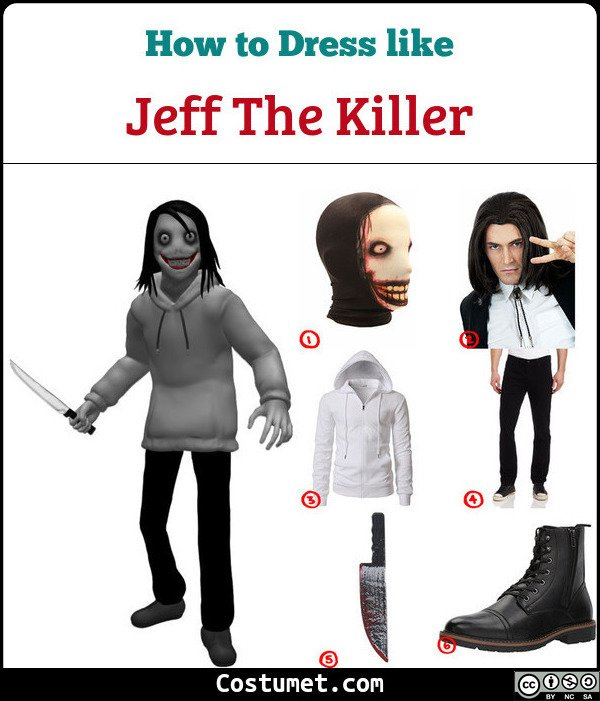 Jeff The Killer Costume for Cosplay & Halloween