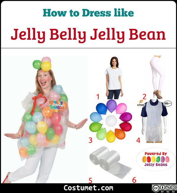 Jelly Belly Jelly Bean Costume for Cosplay & Halloween
