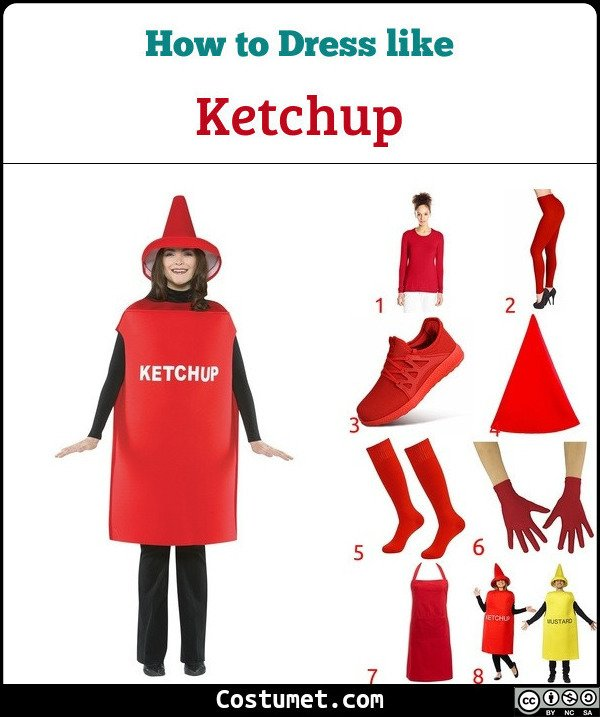 Ketchup And Mustard Costume for Cosplay & Halloween