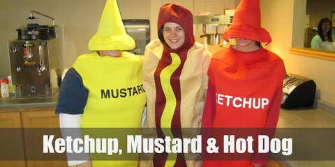Ketchup, Mustard & Hot Dog costume