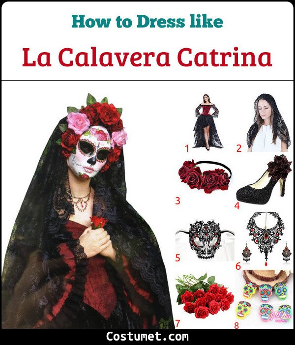 La Calavera Catrina Costume for Cosplay & Halloween