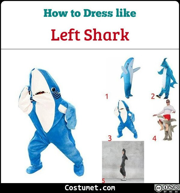 Left Shark Costume for Cosplay & Halloween