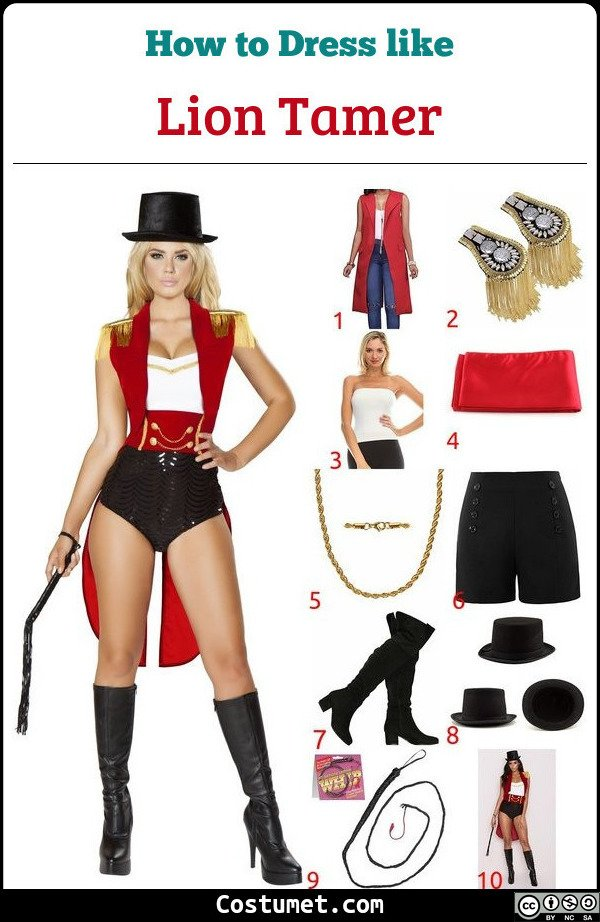 Lion Tamer Costume for Cosplay & Halloween