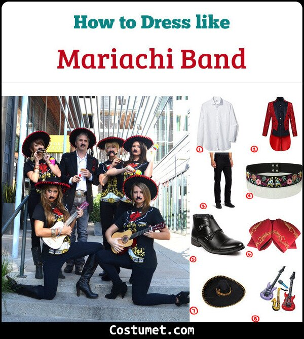 Mariachi Band Costume for Cosplay & Halloween