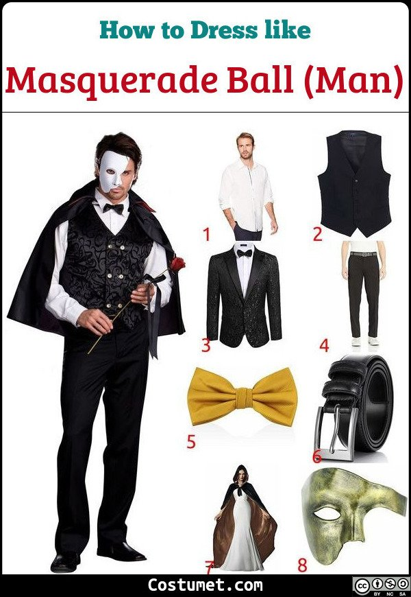 Man Masquerade Ball Costume for Cosplay & Halloween
