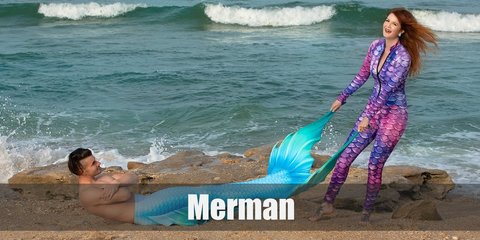 Merman's costume is half-fish body with leggings designed with scales. Then wear an abs-printed top, golden cuffs, and an optional wig. Carry a trident.