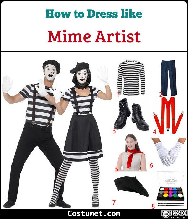 Mime Costume for Cosplay & Halloween