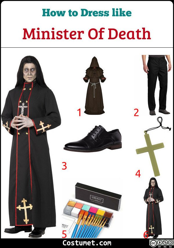 Minister Of Death Costume for Cosplay & Halloween
