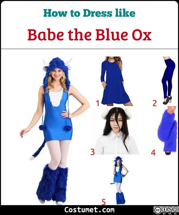 Babe the Blue Ox Costume for Cosplay & Halloween