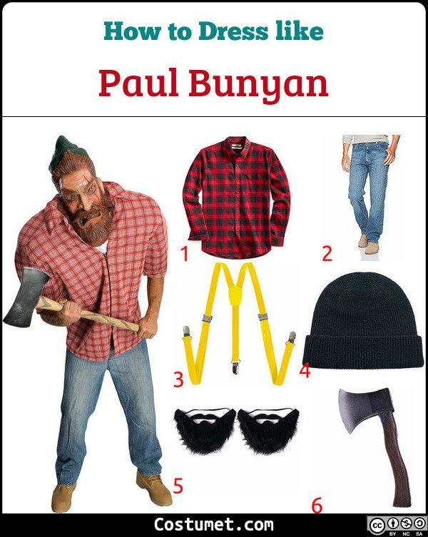 Paul Bunyan Costume for Cosplay & Halloween