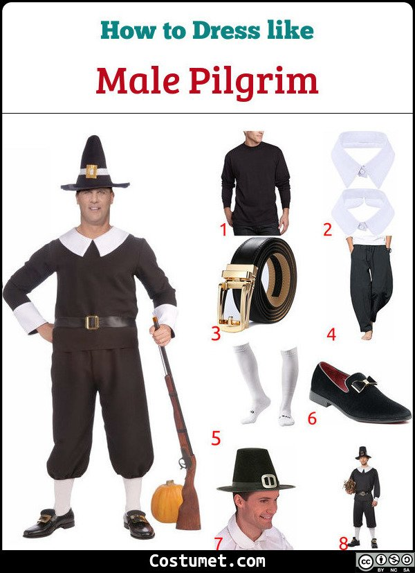 Male Pilgrim Costume for Cosplay & Halloween