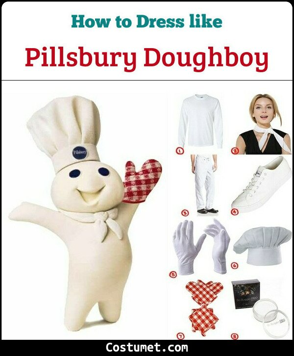 Pillsbury Doughboy Costume for Cosplay & Halloween