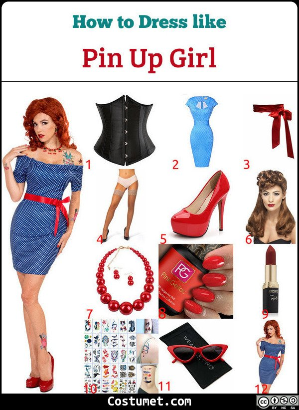 Pin Up Girls Costume for Cosplay & Halloween