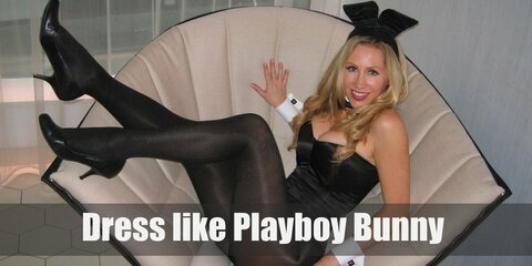 The Playboy bunny suit embodies simple elegance by coming in a plain black bodysuit, black sheer stockings, black heels, and bunny ears.