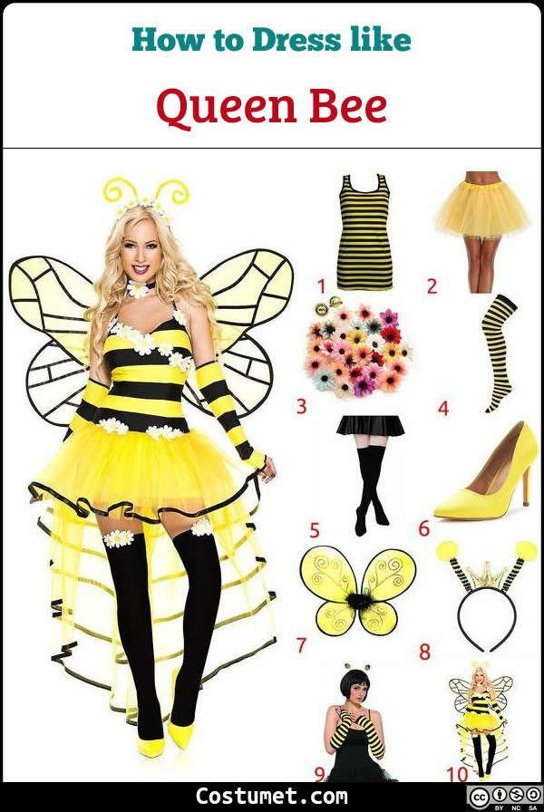 Queen Bee Costume for Cosplay & Halloween