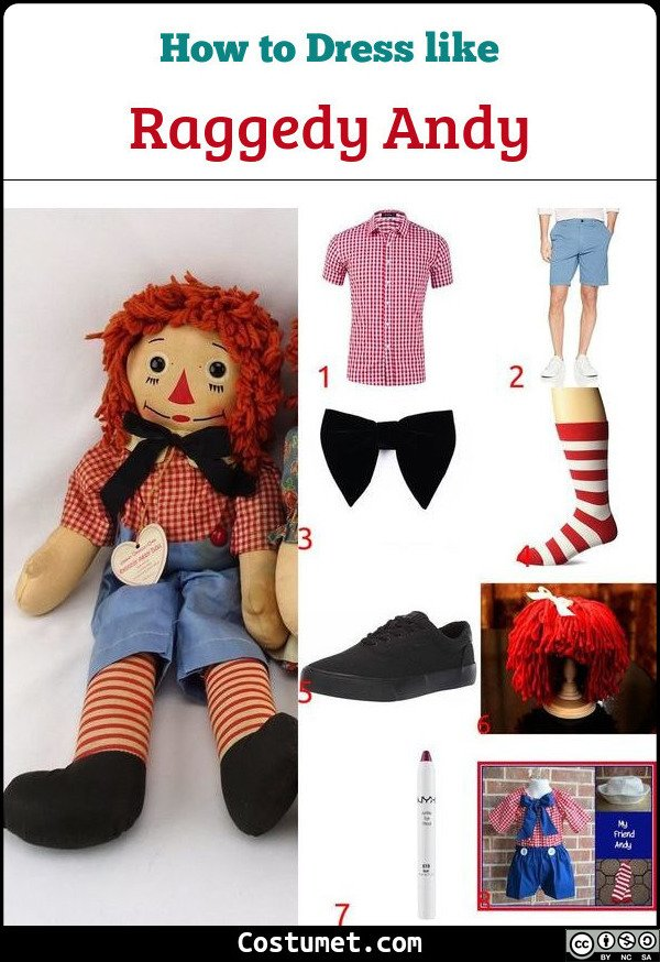 Raggedy Andy Costume for Cosplay & Halloween
