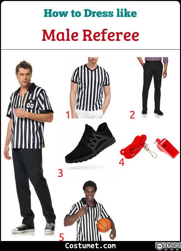 Men Referee Costume for Cosplay & Halloween