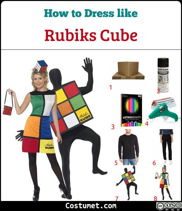 Rubiks Cube Costume for Cosplay & Halloween