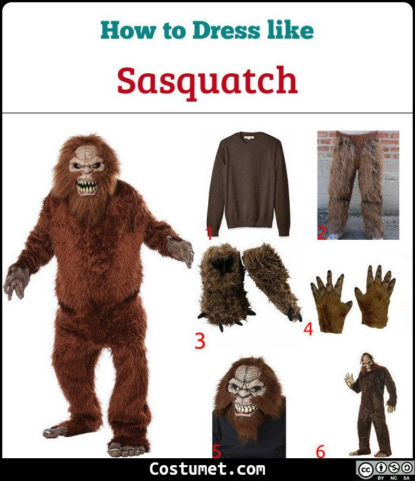 Sasquatch Costume for Cosplay & Halloween