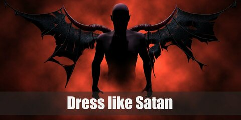 For Satan costume, let's assume that he's like the regal king of the fallen complete with his beautiful red pitchfork and satin clothes.