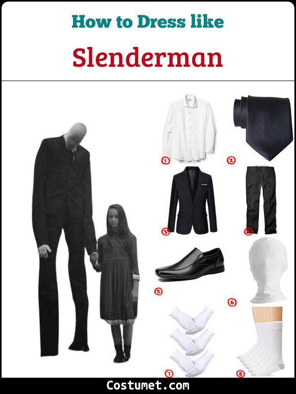 Slenderman Costume for Cosplay & Halloween