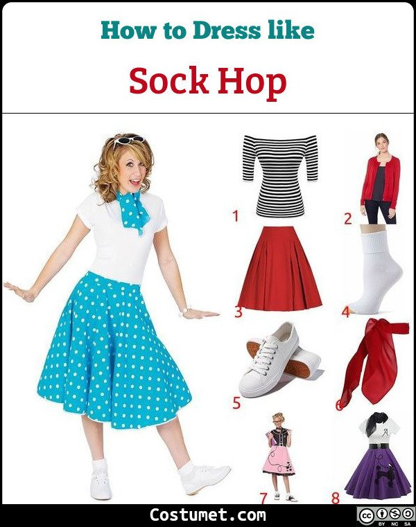 Female Sock Hop Costume for Cosplay & Halloween