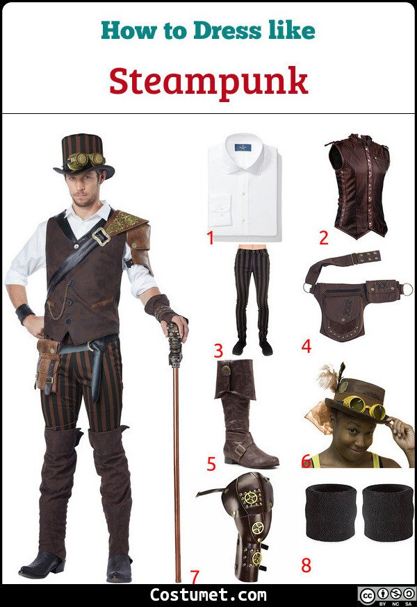 Steampunk Costume for Cosplay & Halloween