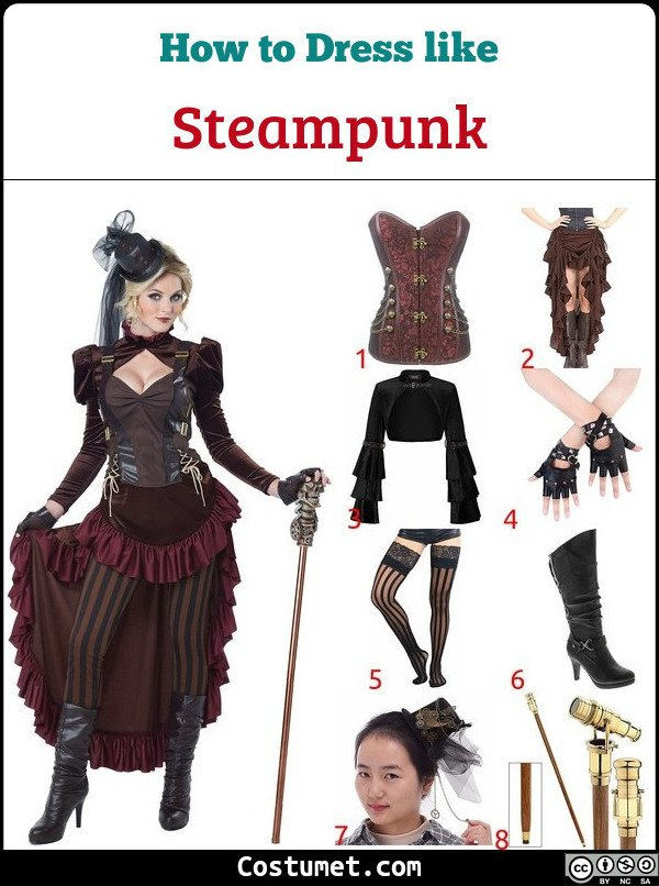 Steampunk Women Costume for Cosplay & Halloween