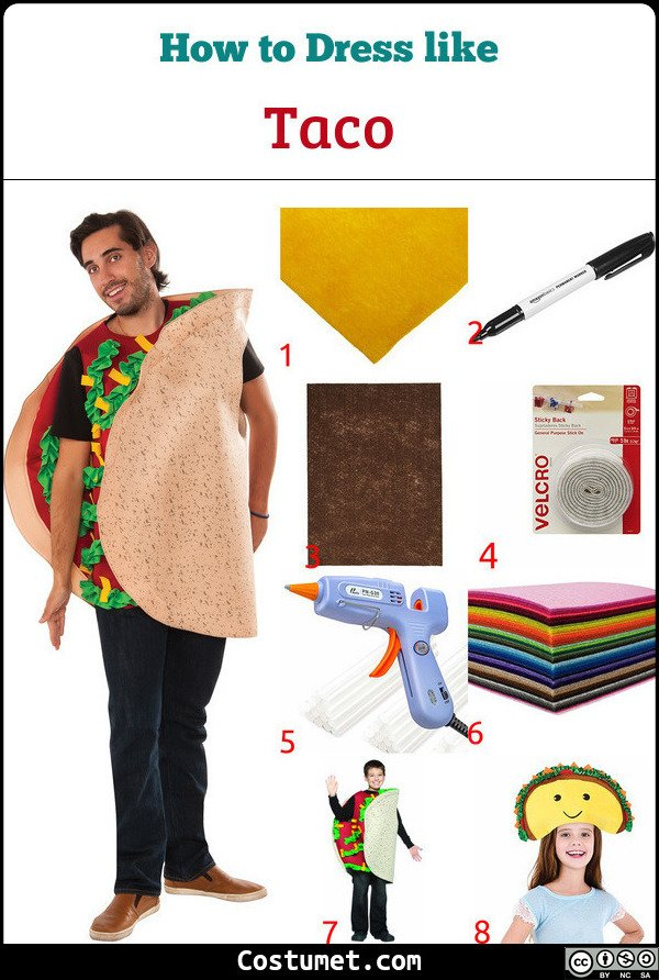 Taco Costume for Cosplay & Halloween