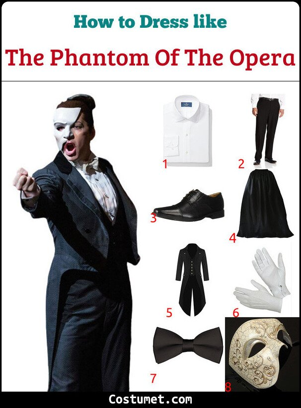 The Phantom Of The Opera Costume for Cosplay & Halloween