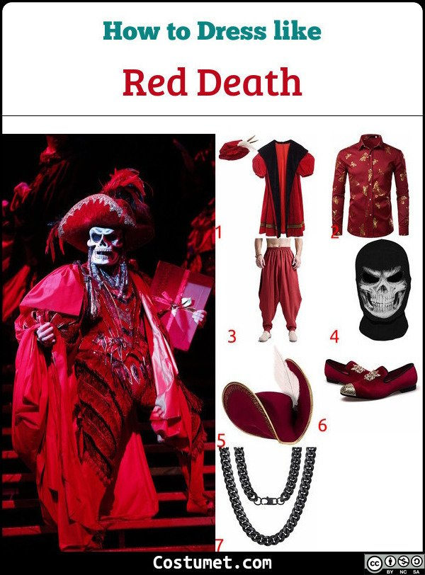 Red Death Costume for Cosplay & Halloween