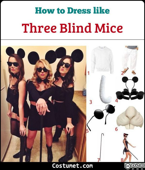 Three Blind Mice Costume for Cosplay & Halloween