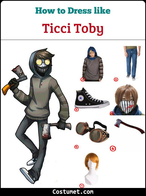 Ticci Toby Costume for Cosplay & Halloween