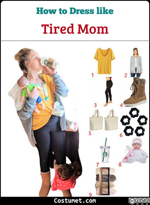 Tired Mom Costume for Cosplay & Halloween