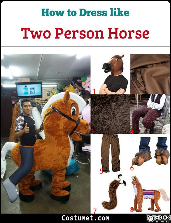 Two Person Horse Costume for Cosplay & Halloween