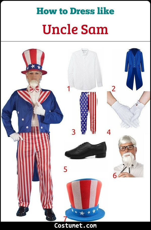 Uncle Sam Costume for Cosplay & Halloween