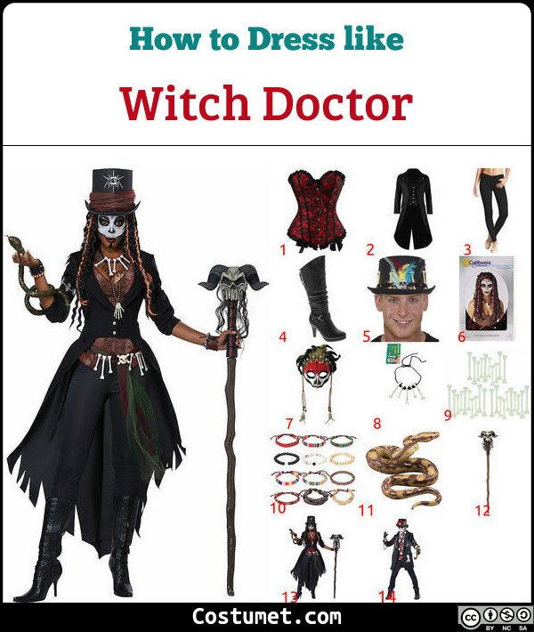 Witch Doctor Costume for Cosplay & Halloween