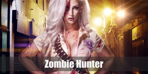 zombie hunter is a very customizable costume. The most basic things you need are distressed clothes, fake blood, and deadly weapons.