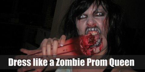Dress Like a Zombie Prom Queen Costume