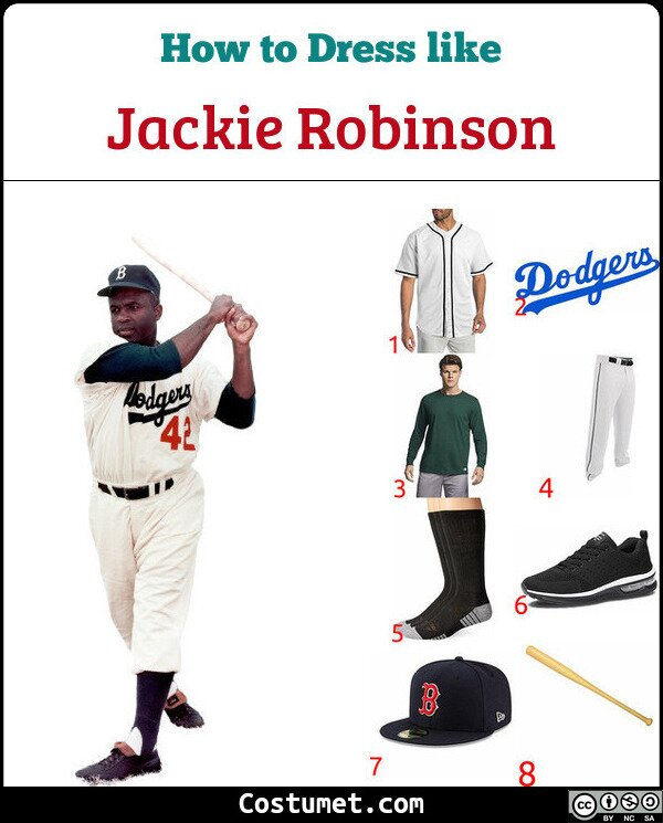 Jackie Robinson Costume for Cosplay & Halloween