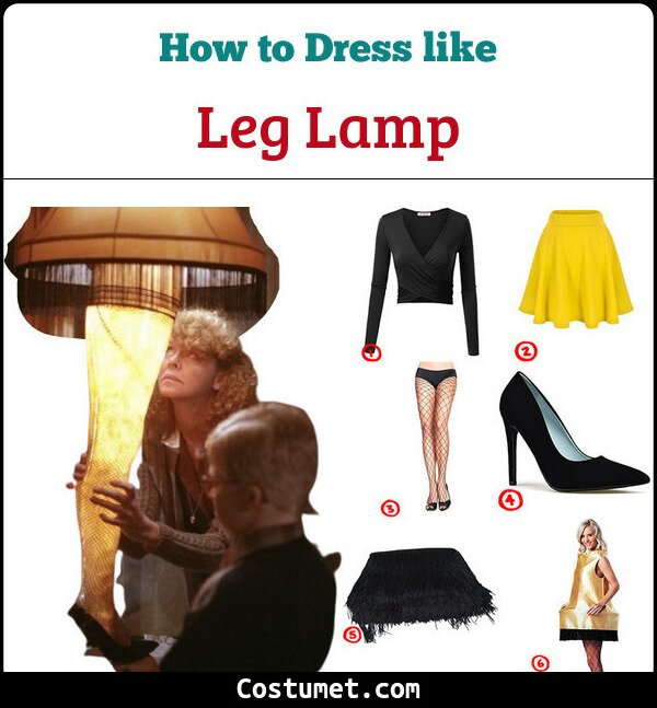 Lamp From Christmas Story Costume.Leg Lamp A Christmas Story Costume For Halloween 2019